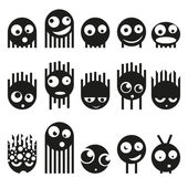 Set van schattige monsters, vector — Stockvector