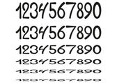 Hand drawing numbers — Vetorial Stock