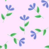 Gentle floral seamless pattern — Stock Vector