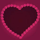 Cartoon heart drawn with cat paw footprints — Vetorial Stock