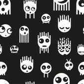Cute ghost monsters seamless pattern — Stock Vector