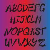 Handwriting stylish alphabet — Stock Vector