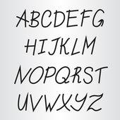 Handwriting alphabet — Stock Vector