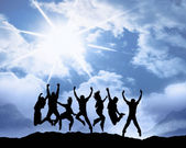Happiness youth group — Stock Photo