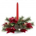 Christmas candle decoration — Stock Photo