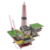 Large Oil Platform with area — Stock Photo
