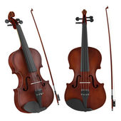 Violin isolated. Two angles of view — Stock fotografie