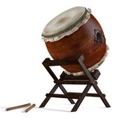 Taiko drums. Traditional Japanese instrument — Stock Photo