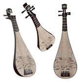 Pipa. Traditional Chinese musical instrument. — Stock Photo