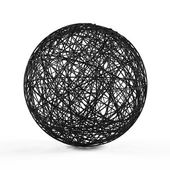 Abstract structure ball consist of black lines. — Stock Photo