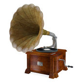 Vintage gramophone isolated. — Stock Photo