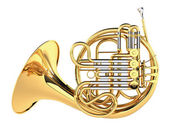 Double French Horn isolated — Stock Photo