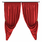 Red curtain isolated — Stock Photo