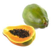 Fresh and tasty papaya isolated — Stok fotoğraf