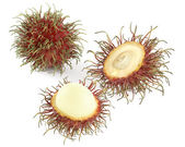 Rambutan fruit with red shell isolated — Stock Photo