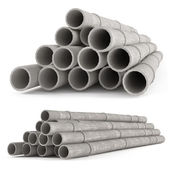 Industrial concrete pipes. Tubes — Stock Photo