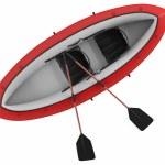 Inflatable kayak canoe isolated — Stock Photo #38881763