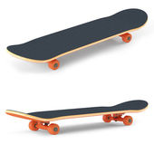 Skateboard isolated on white background — Stock Photo