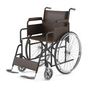 Wheelchair front isolated — Stock Photo