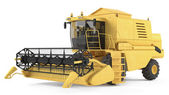 Combine-harvester isolated — Stock Photo