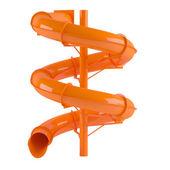 Aquapark slide tube isolated — Stock Photo