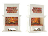 Fireplace isolated — Foto de Stock