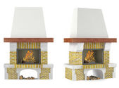 Fireplace isolated — Foto Stock