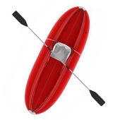 Inflatable kayak canoe isolated — Stock Photo