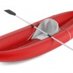 Inflatable kayak canoe isolated — Stock Photo #45325661