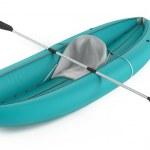 Inflatable kayak canoe isolated — Stock Photo #45325687