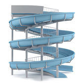 Aquapark glida röret isoleras — Stockfoto