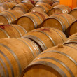 Oak wine barrels in winery cellar — Stock Photo #35757743
