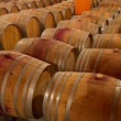 Oak wine barrels in winery cellar — Stock Photo #35758091