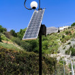 Solar energy street light — Stock fotografie