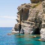 ������, ������: Soft steep pebble rock cliffs