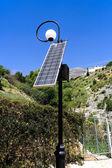 Solar energy street light — Stock Photo