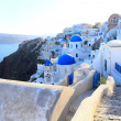 Aegean sea cycladic volcanic island of Santorini. — Stock Photo