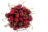 Bowl of fresh ripe cherries — Stock Photo
