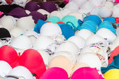 Women's sensual underwear on a market stand — Stock Photo
