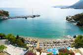 Panoramic view of a beach at Bali, Crete. — Stock Photo