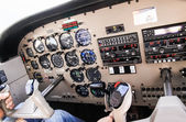 Airplane navigational controls. — Stock Photo