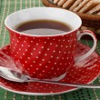 Polka dot cup — Stock Photo