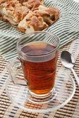 Koffie met appelgebak — Stockfoto