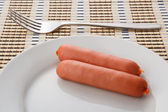 Two sausages — Stock Photo