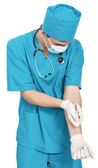 Doctor with a syringe — Stock Photo