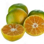 Three orange fruits on white background — Stock Photo #35153657