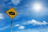 Steep ascent traffic sign — Stock Photo
