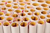 Stack of roll calendar paper — Stock Photo