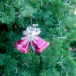 Christmas jingle bells and christmas tree — Foto de Stock