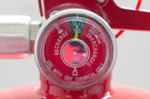 Chemical gage of Fire Extinguisher — Stockfoto